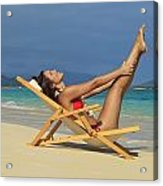 Beach Stretches Acrylic Print by Tomas del Amo