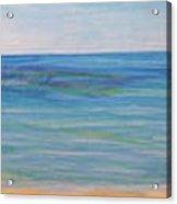 Beach Walk Acrylic Print by Monika Shepherdson