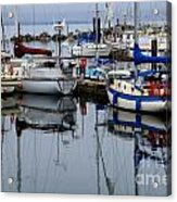 Beauty Of Boats Acrylic Print by Bob Christopher