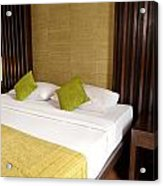 Bed Room Acrylic Print by Atiketta Sangasaeng