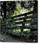Benched Acrylic Print by Tammy Cantrell