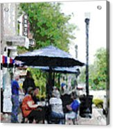 Bentonville On The Square Acrylic Print by Ann Powell