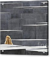 Berlin Germany Holocaust Memorial Acrylic Print by Matthias Hauser