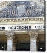 Berliner Reichstag Acrylic Print by Shyish!