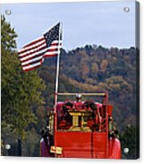 Bethlehem Fire Truck - D008199 Acrylic Print by Daniel Dempster
