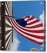 Betsy Ross Flag In Chicago Acrylic Print by Semmick Photo
