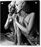Betty Grable, 1930s Acrylic Print by Everett