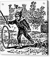 Bewick: Boy With Hoop Acrylic Print by Granger