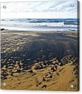 Bi Color Beach  Acrylic Print by Tim Fitzwater