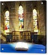 Bible In Church Acrylic Print by John Short