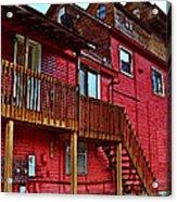 Big Red Acrylic Print by MJ Olsen