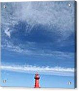 Big Sky Over Algoma Lighthouse Acrylic Print by Mark J Seefeldt