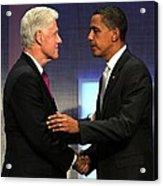 Bill Clinton, Barack Obama At A Public Acrylic Print by Everett
