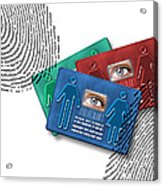 Biometric Id Cards Acrylic Print by Victor Habbick Visions