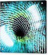 Biometric Identification Acrylic Print by Pasieka
