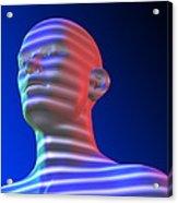 Biometric Scanning Acrylic Print by Pasieka