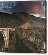 Bixby Bridge Sunset Acrylic Print by Joe  Palermo