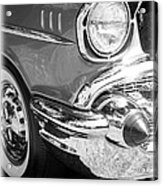 Black And White 1957 Chevy Acrylic Print by Steve McKinzie