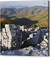 Black Rock Mountain Shenandoah National Park Acrylic Print by Pierre Leclerc Photography