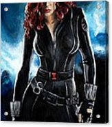 Black Widow Acrylic Print by Tom Carlton
