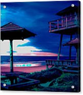Blacklight Tower Acrylic Print by DigiArt Diaries by Vicky B Fuller
