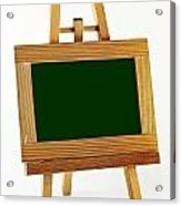 Blank Chalkboard In Wood Frame Acrylic Print by Blink Images