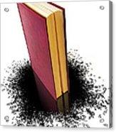 Bleading Book Acrylic Print by Carlos Caetano