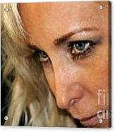 Blond Woman Strict Acrylic Print by Henrik Lehnerer