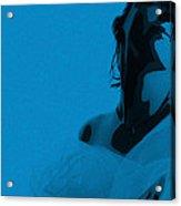 Blue Bride Acrylic Print by Naxart Studio