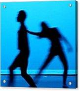 Blue Dancers Acrylic Print by Kenneth Mucke