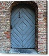 Blue Door Acrylic Print by Carol Groenen
