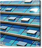 Blue Facade Acrylic Print by Carlos Caetano