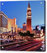 Blue Hour In Las Vegas Acrylic Print by Bert Kaufmann Photography