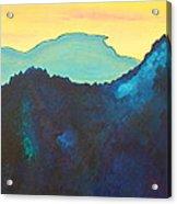 Blue Mountain Acrylic Print by Silvie Kendall