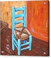 Blue Vincent Acrylic Print by JW DeBrock