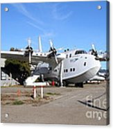 Boac British Overseas Airways Corporation Speedbird Flying Boat . 7d11249 Acrylic Print by Wingsdomain Art and Photography