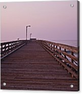 Boardwalk At Dawn Acrylic Print by David Buffington