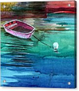 Boat And The Buoy Acrylic Print by Anil Nene