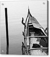 Boat In Venecia Acrylic Print by Zarija Pavikevik