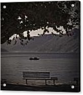 boat on the Lago Maggiore Acrylic Print by Joana Kruse
