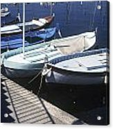 Boats In Harbor Acrylic Print by Axiom Photographic