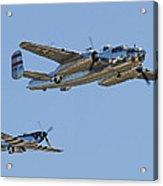 Bomber Escort Acrylic Print by Jeff Stallard