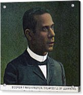 Booker T. Washington, Detail Acrylic Print by Everett