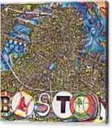 Boston Art Map Acrylic Print by Jonathan 'DiNo' DiNapoli