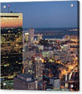 Boston By Night. Acrylic Print by Linh H. Nguyen Photography