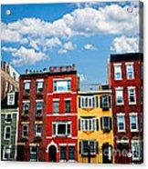 Boston Houses Acrylic Print by Elena Elisseeva
