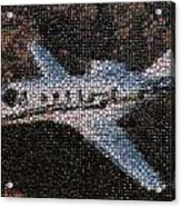 Bottle Cap Cessna Citation Mosaic Acrylic Print by Paul Van Scott