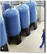 Bottled Water Production Acrylic Print by Ria Novosti