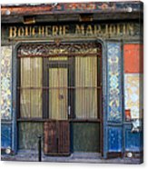 Boucherie Marjolin Acrylic Print by Andrew Fare