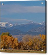 Boulder County Colorado Continental Divide Autumn View Acrylic Print by James BO  Insogna